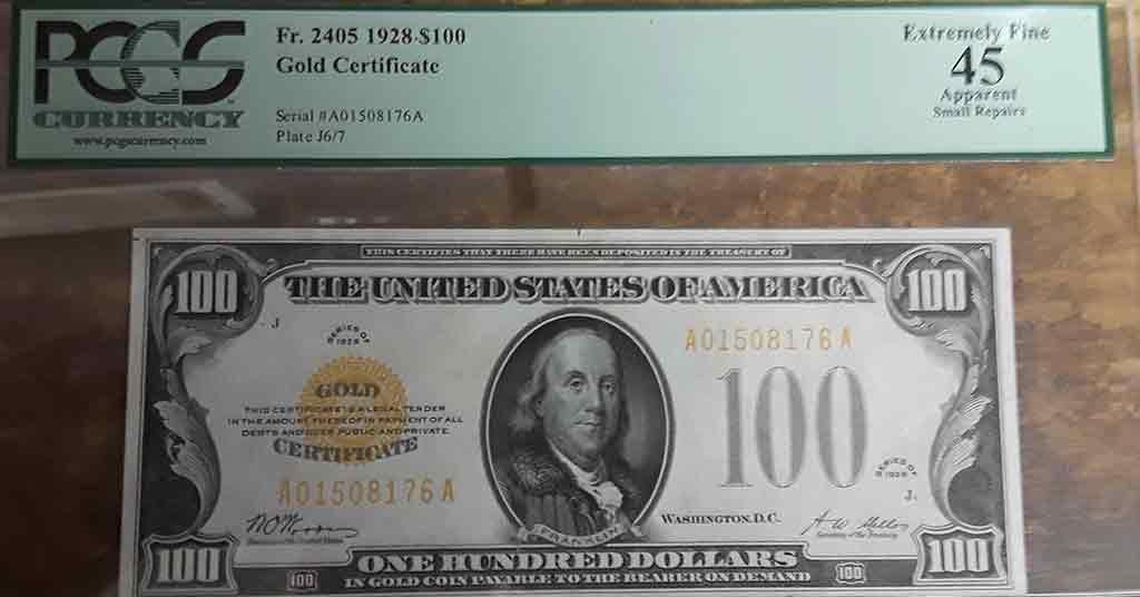 $100 Gold Certificate