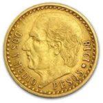Gold 2 1/2 Pesos