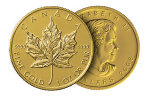 Gold Canadian Maple Leaf